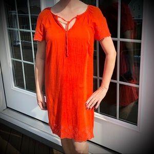 Old Navy Orange Dress With Front Tie